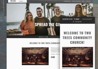 Two Trees Community Church Website Design